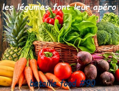 Logo du défi culinaire Bataille food #90 Les légumes font leur apéro